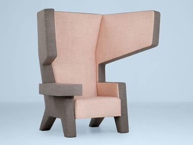 Wing fabric lobby chair with armrests EARCHAIR