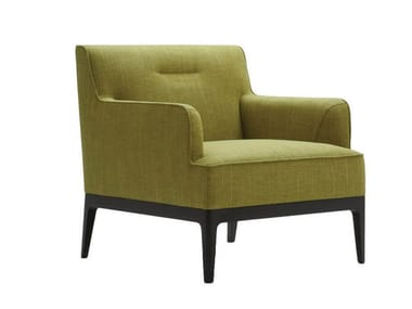 Fabric armchair with armrests EARL | Armchair