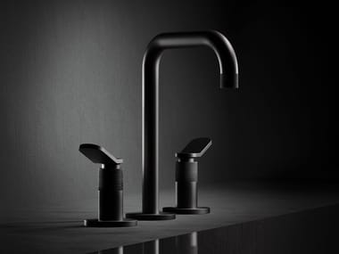 Brass washbasin tap with matt black finish EAST SIDE | Washbasin tap