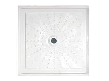 Flush fitting fiberglass shower tray EASY 15200