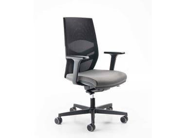 Fabric task chair with armrests EASY B STANDARD