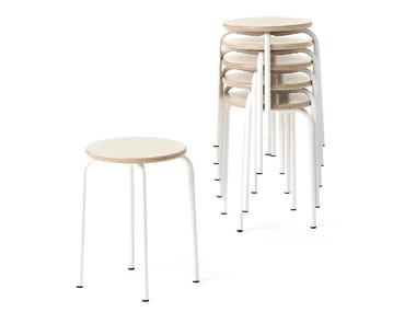 Stackable beech stool EASY | Beech stool