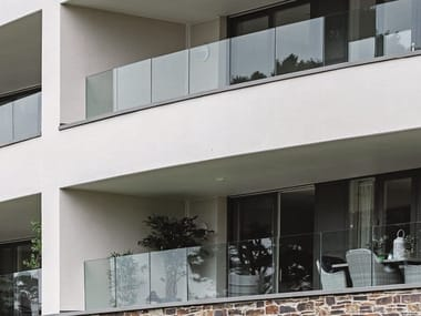 Glass and aluminium Window railing EASY GLASS® PRIME