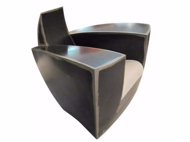 ici furniture. Industrial Style Metal Armchair EASY ONE AGED. ICI ET LÀ Ici Furniture