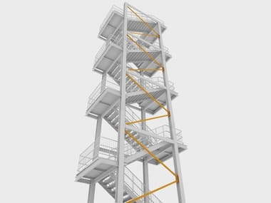 Modular galvanized steel Open staircase EASY STEP