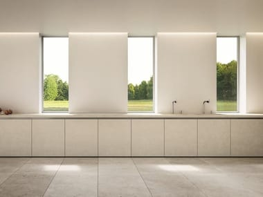 Linear kitchen with integrated handles EASY THE MINIMIMAL