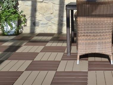 Pavimento per esterni flottante effetto legno EASYPLATE | Pavimento per esterni