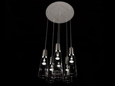 Handmade metal and glass pendant lamp EAU DE T. SC6