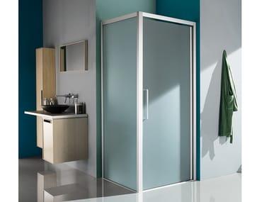 Box doccia angolare con porta a battente EUROPA SP   Box doccia angolare