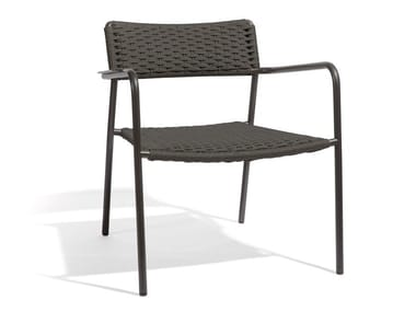 Garden armchair with armrests ECHO | Lounge chair