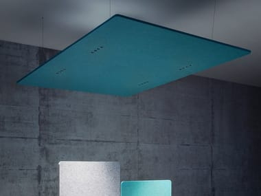 Pannello acustico a sospensione con illuminazione integrata ECHOLED® EQ4
