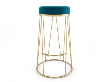 High upholstered fabric stool ECLAT | Stool