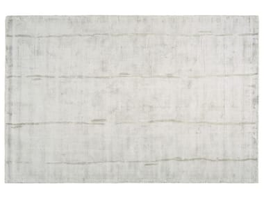 Solid-color rectangular silk rug ECLAT