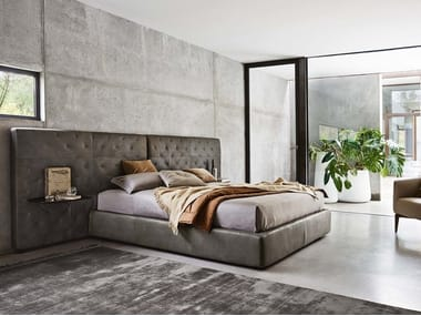 Upholstered storage bed ECLÉCTICO | Double bed