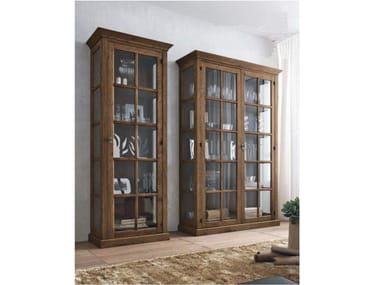 Wooden display cabinet ECLETTICA | Display cabinet