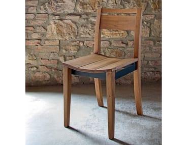 Wooden chair ECLETTICA | Open back chair