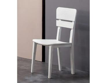 Wooden chair ECLETTICA | Wooden chair