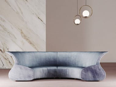 Curved fabric sofa ECLIPSE | Curved sofa