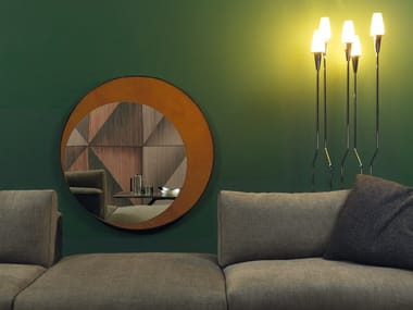 Round wall-mounted mirror ECLIPSE
