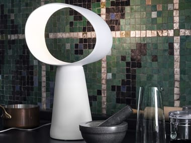 Direct light ceramic table lamp ECLIPSE