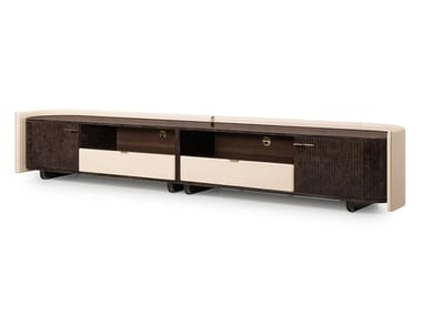 Leather TV cabinet with drawers ECLIPSE | TV cabinet