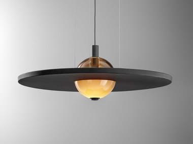 Luminária pendente LED de chapa perforada ECLIPSE NUANCE SILENCE