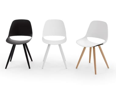 Plastic chair with wooden legs ECLIPSE WOOD | Chair