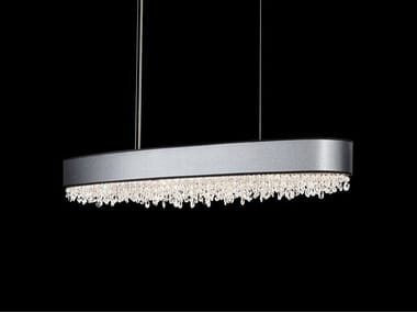 Direct light crystal and stainless steel pendant lamps archiproducts halogen stainless steel pendant lamp with swarovski crystals eclyptix pendant lamp aloadofball Image collections