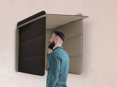 Acoustic wall-mounted phone booth ECOBOOTH | Phone booth
