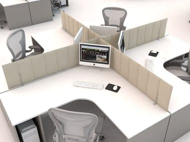 Polyester fibre workstation screen desktop partition ECODESK | Workstation screen desktop partition