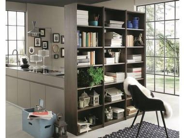 Libreria a giorno divisoria modulare in rovere ECOLAB 2 | Libreria divisoria