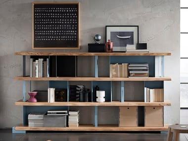 Libreria a giorno in ferro con cassetti ECOLAB 2 | Libreria