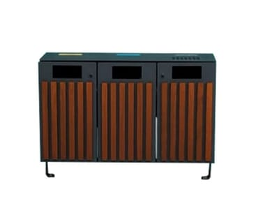 Outdoor litter bin with lid ECOLOGY W