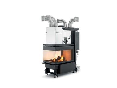 Caminetto a legna con vetro panoramico classe A ECOMONOBLOCCO WT 60 3D