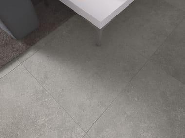 Porcelain stoneware flooring with concrete effect ECONCRETE