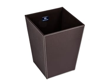 Eco-leather bathroom waste bin ECOPELLE | Bathroom waste bin
