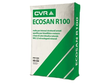 Natural plaster for sustainable building ECOSAN R100
