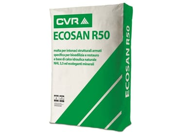 Natural plaster for sustainable building ECOSAN R50