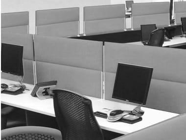 Painel divisor fono-absorvente em fibra de poliéster de mesa ECOSTRONG | Painel divisor de mesa