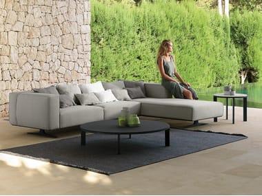 Modular fabric garden sofa EDEN | Modular garden sofa