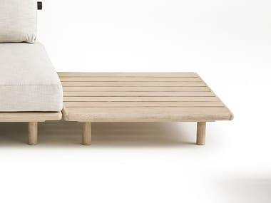 Tables basses de jardin carrée en teck EDEN | Table basse en teck