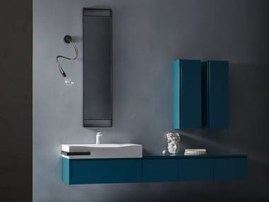 Mobile lavabo laccato sospeso con cassetti EDEN | Mobile lavabo laccato