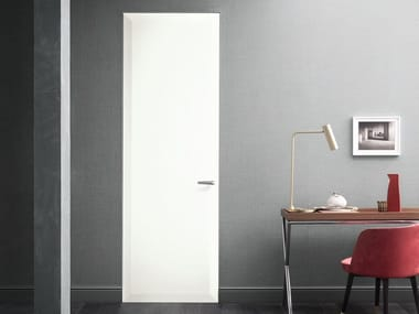 Hinged honeycomb door with concealed hinges EDGE