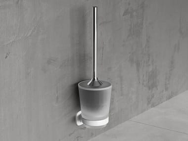 Wall-mounted metal toilet brush EDGE | Toilet brush