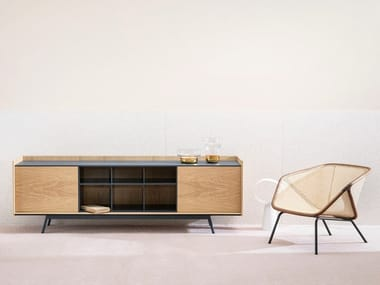 Wooden sideboard with doors EDGE | Wooden sideboard