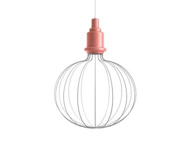 Lampada a sospensione a luce diretta e indiretta in ceramica EDISON BIG B | Lampada a sospensione