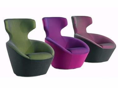 Swivel fabric armchair EDITO | Swivel armchair