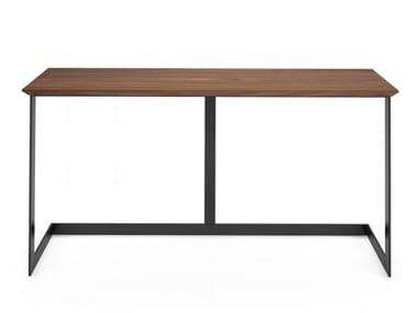 Rectangular walnut console table EDWARD | Console table