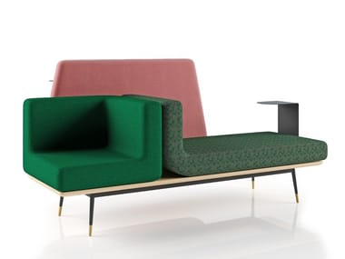 Modular fabric leisure sofa EELO