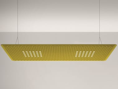 Hanging acoustic panel / pendant lamp EGGBOARD MATRIX 1600X800